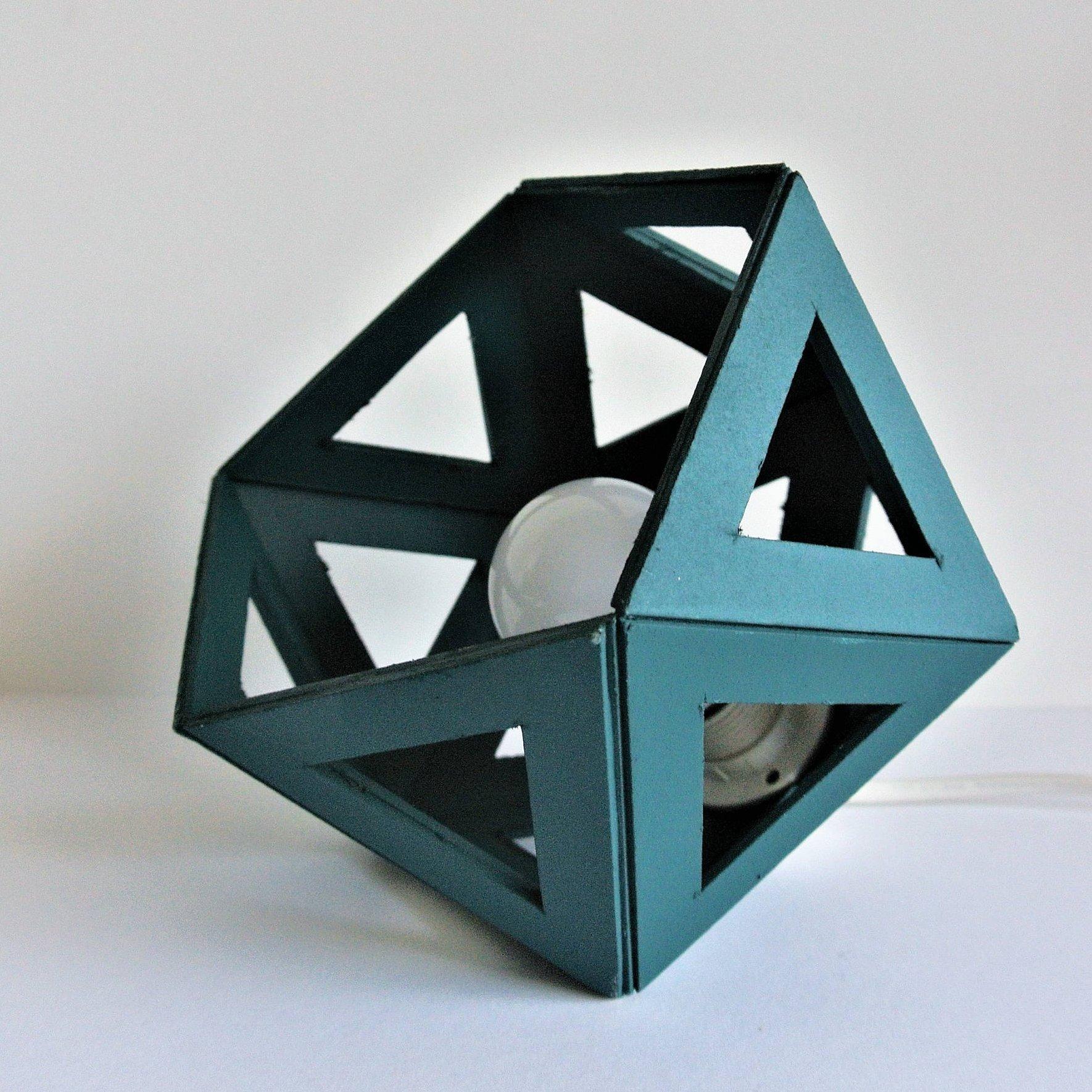 Petite Petite Lampe Origami Canard Petite Lampe Bleu Lampe avec Origami Canard