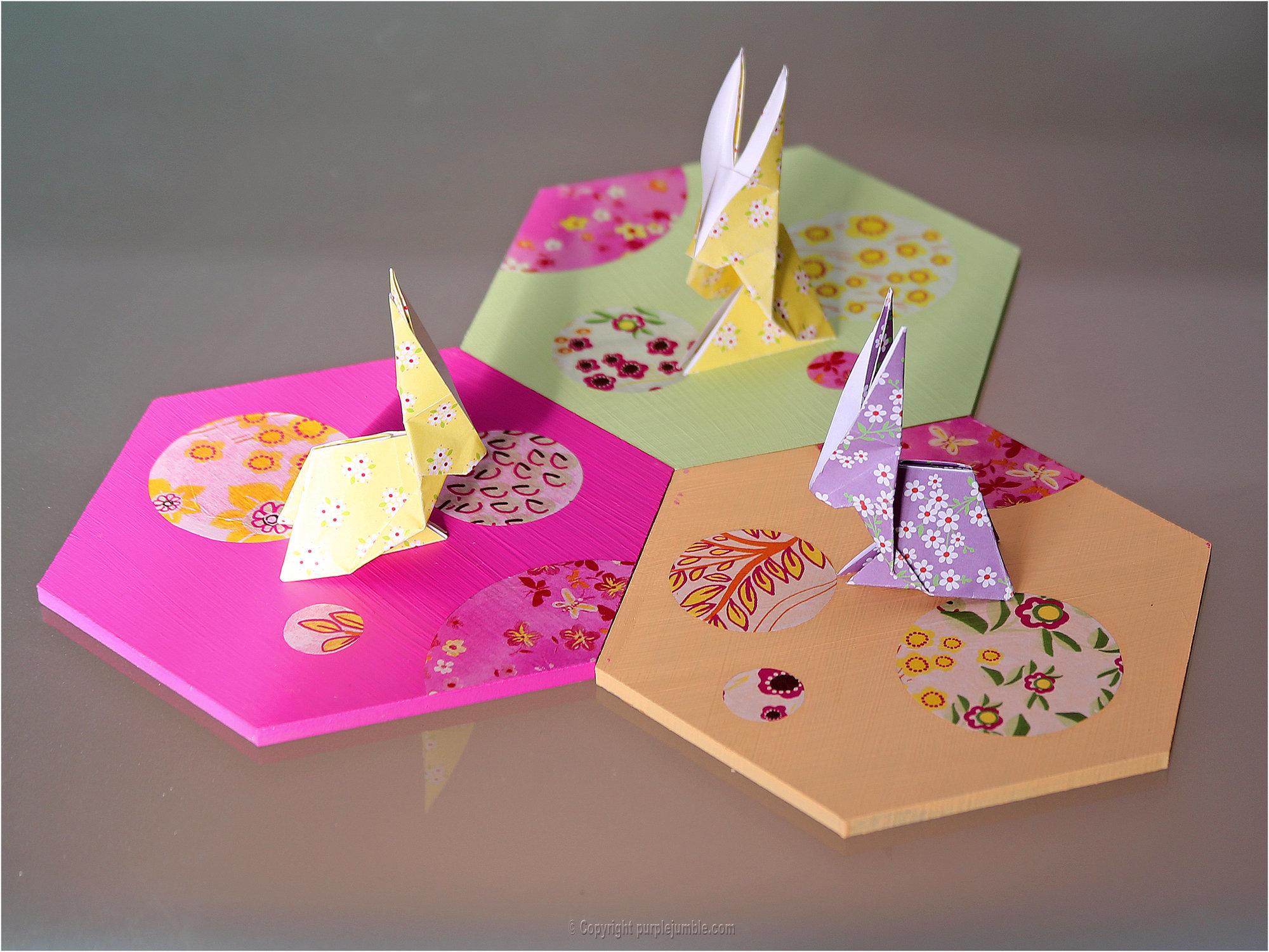 Petits Lapins Origami | Oui Are Makers encequiconcerne Origami Facile A Faire En Français