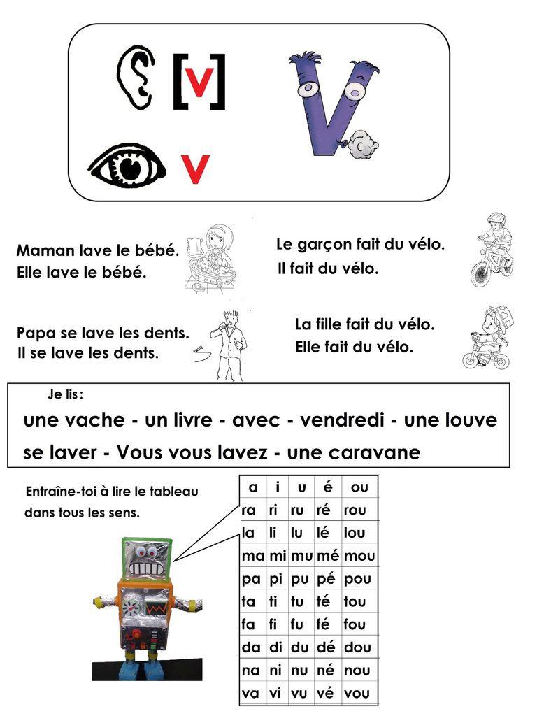 Phonologie Cp Avec L'aide Des Alphas: La Lettre V, Le Son [V pour Le Son F Cp