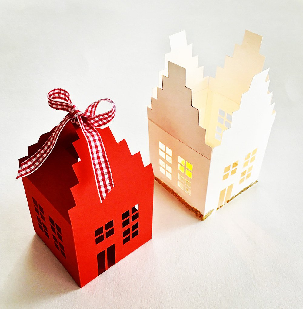 Photophore En Papier : Tutoriel Pour Faire Une Maison dedans Patron De Maison En Papier A Imprimer