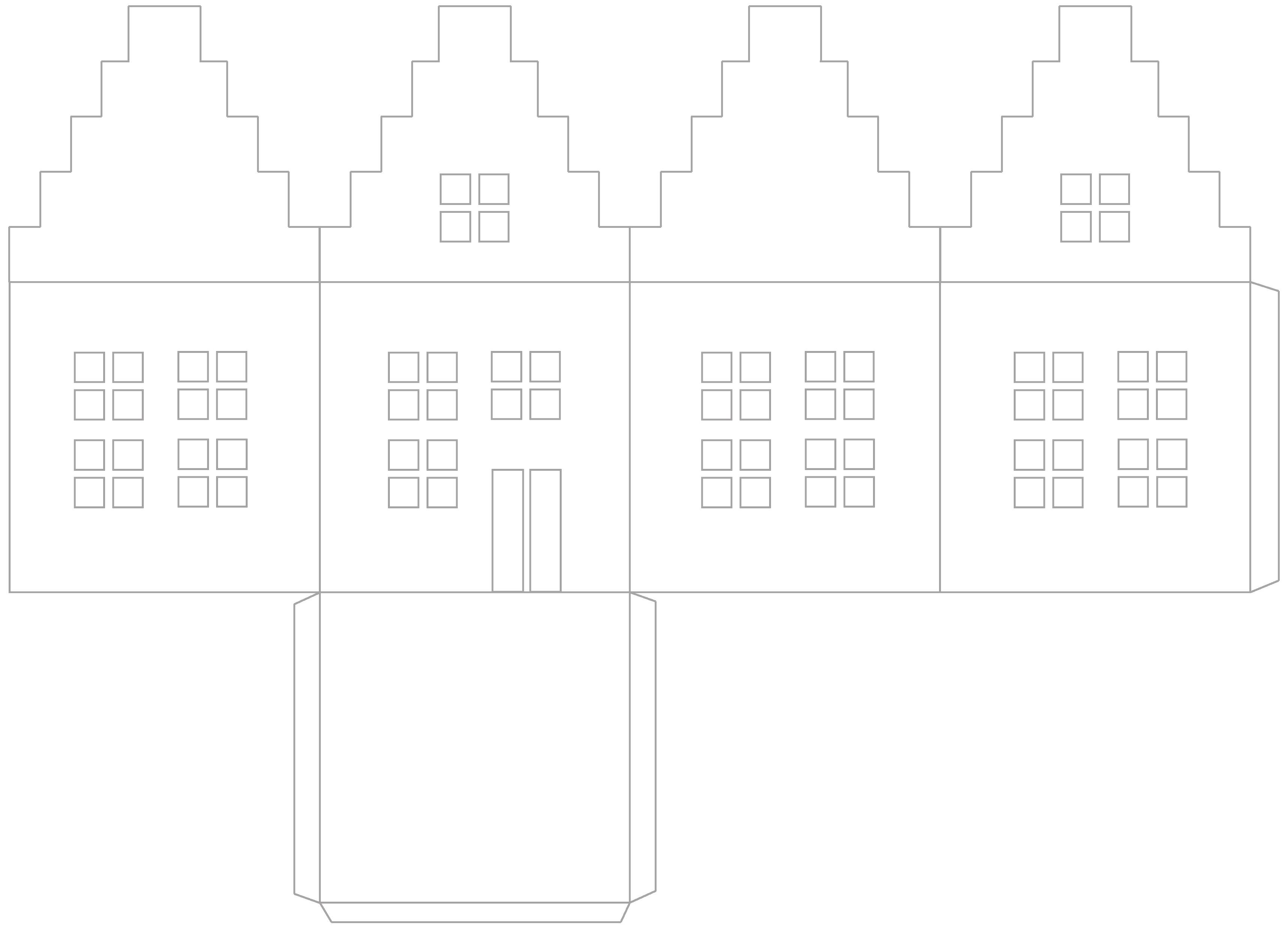 Photophore En Papier : Tutoriel Pour Faire Une Maison tout Patron De Maison En Papier A Imprimer