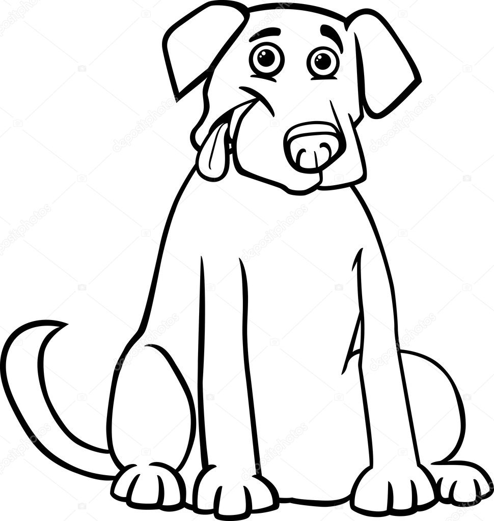 Picture: Labrador Cartoon | Labrador Retriever Cartoon For tout Coloriage Labrador