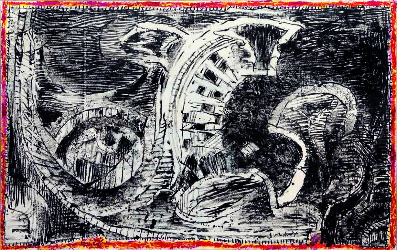 Pierre Alechinsky - Artiste - Galerie Lelong & Co. intérieur Oeuvre Alechinsky