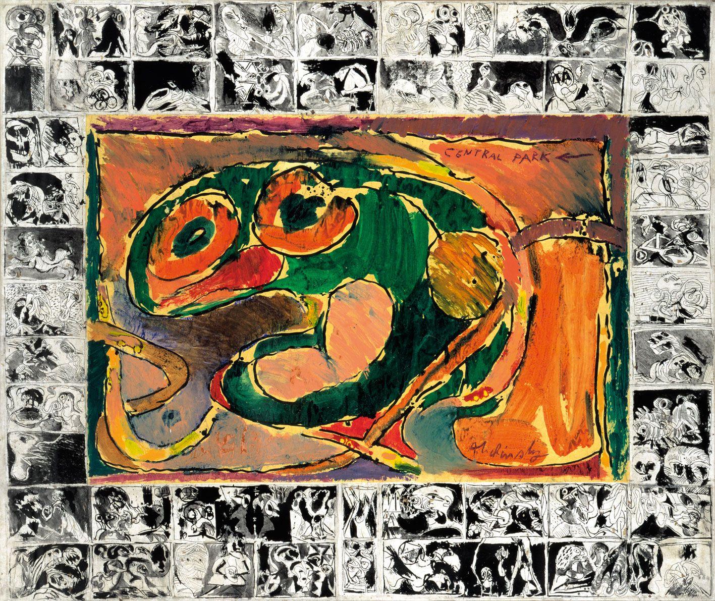 Pierre Alechinsky - Central Park, 1965 | Art, Art Rmel destiné Oeuvre Alechinsky