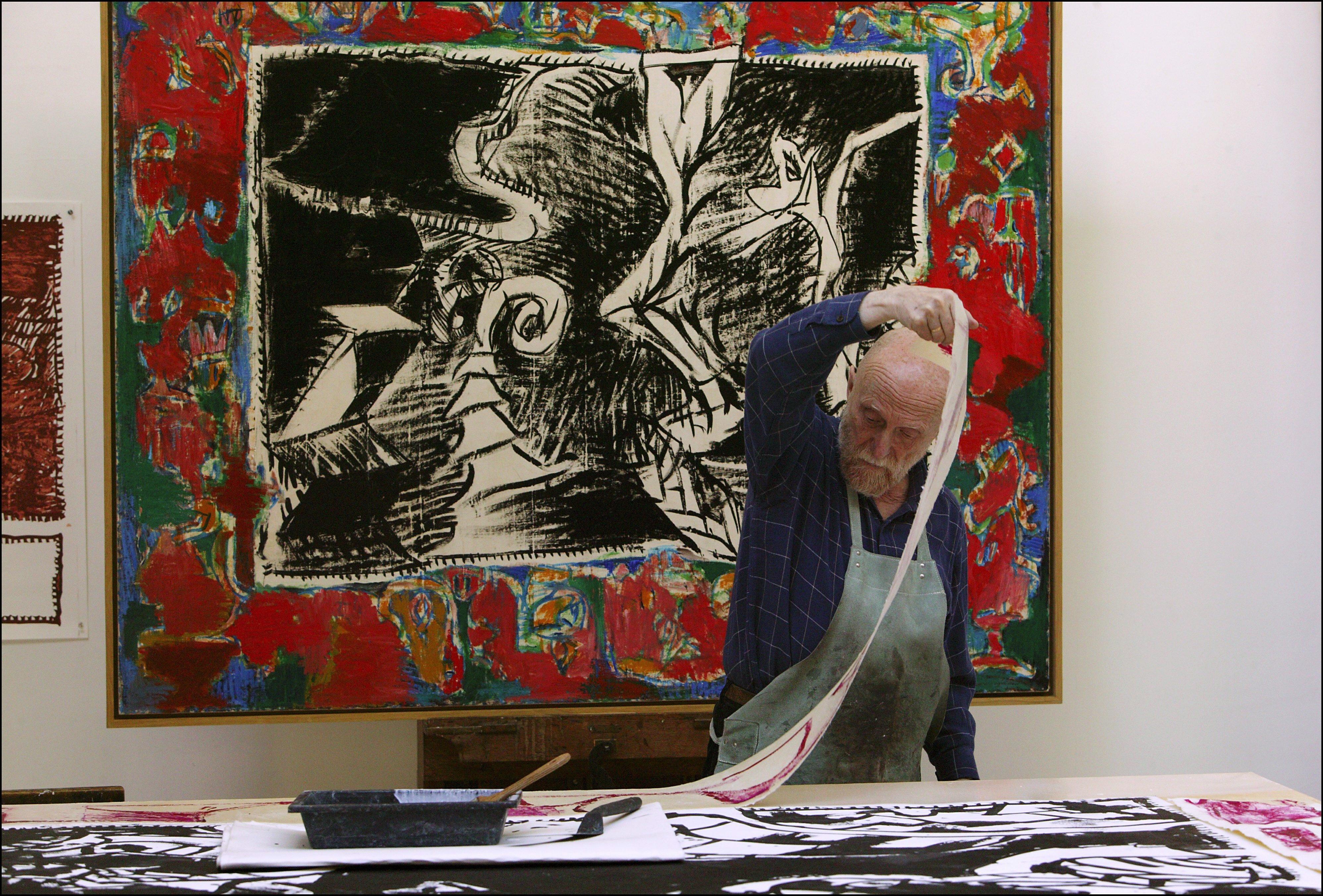 """Pierre Alechinsky : """"c'est Par La Répétition Qu'on Est encequiconcerne Oeuvre Alechinsky"""