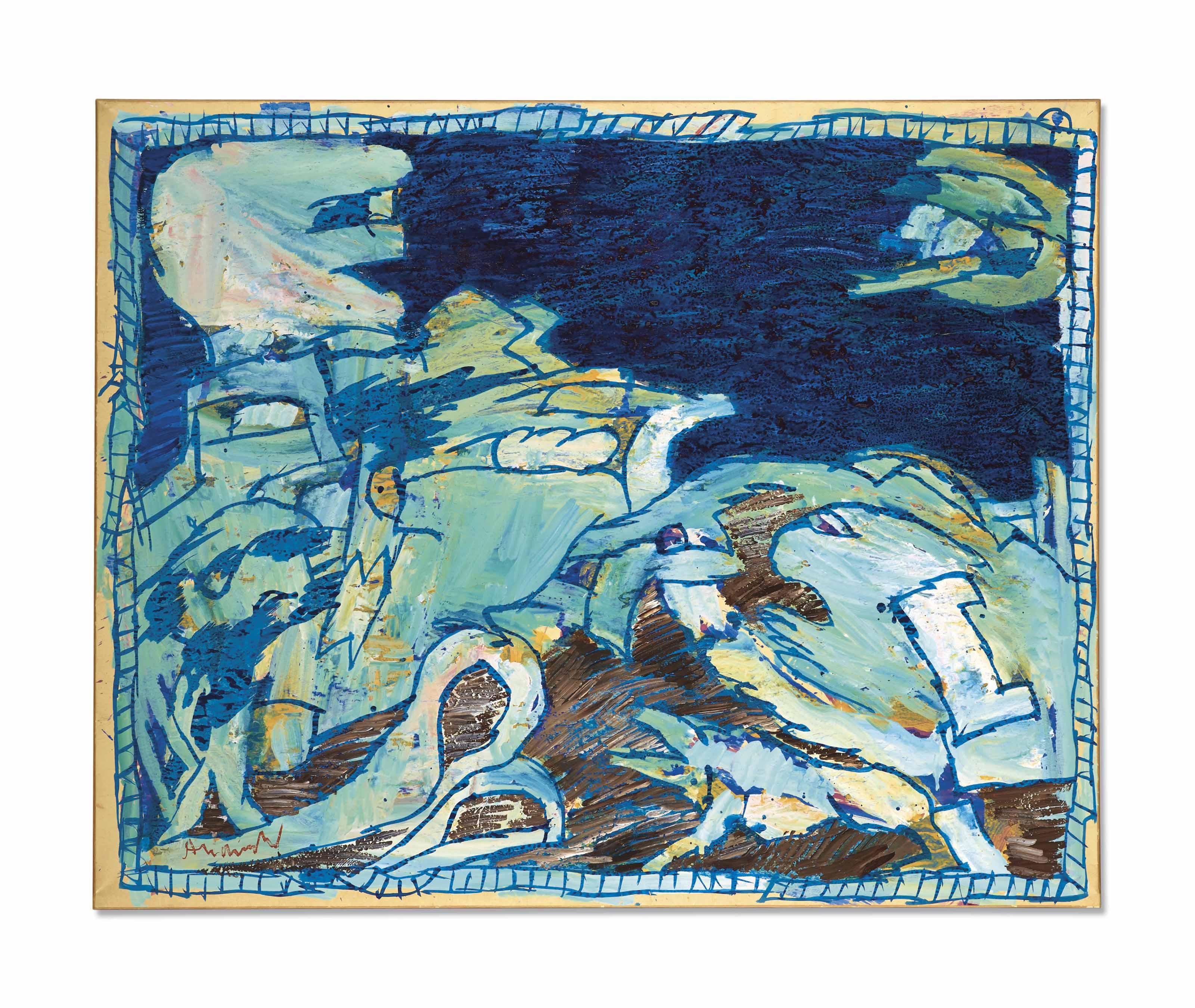 Pierre Alechinsky (Né En 1927) - Auktionen & Preisarchiv encequiconcerne Oeuvre Alechinsky