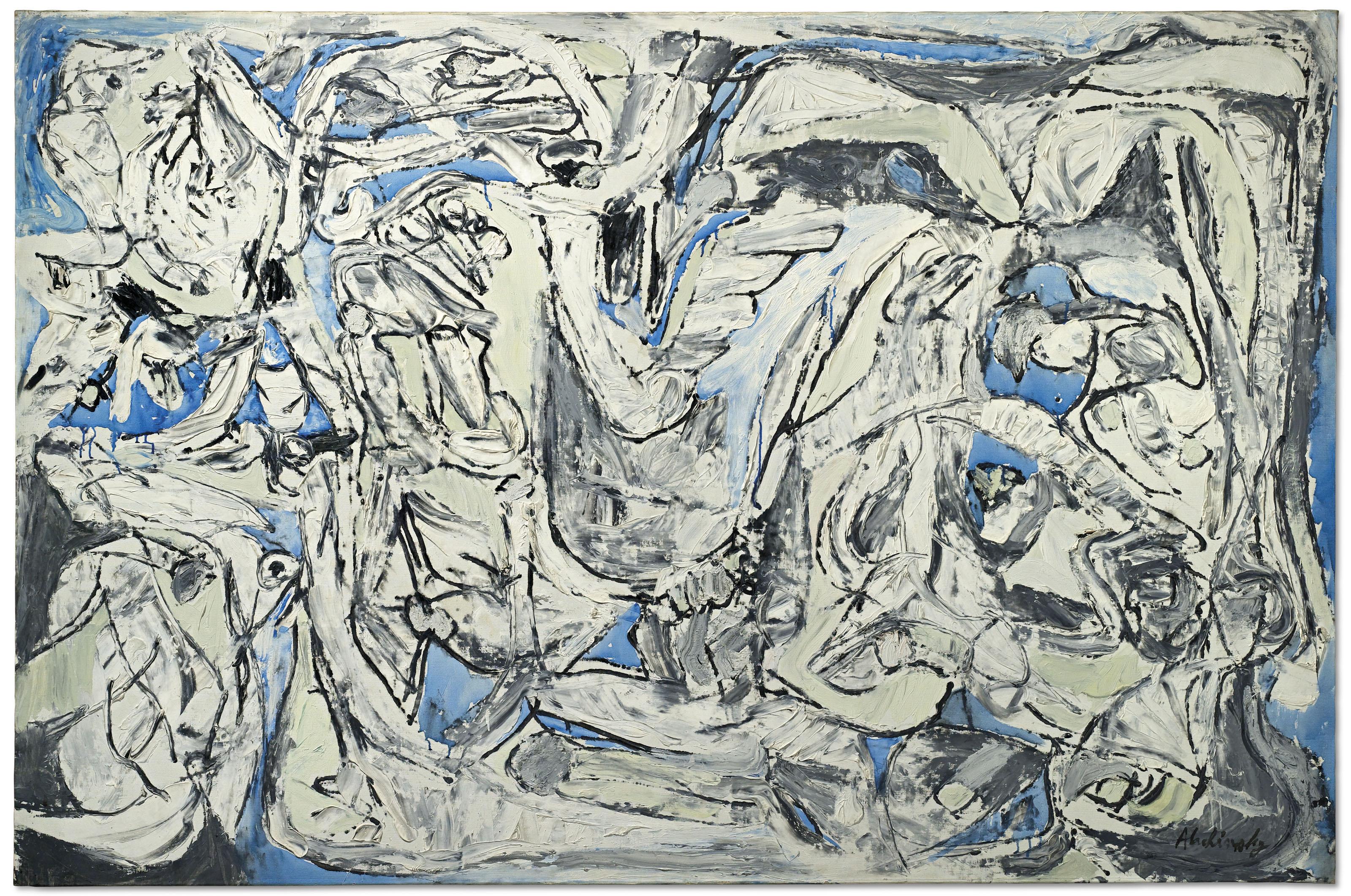 Pierre Alechinsky (Né En 1927) | Distances Prises | 1960S encequiconcerne Oeuvre Alechinsky