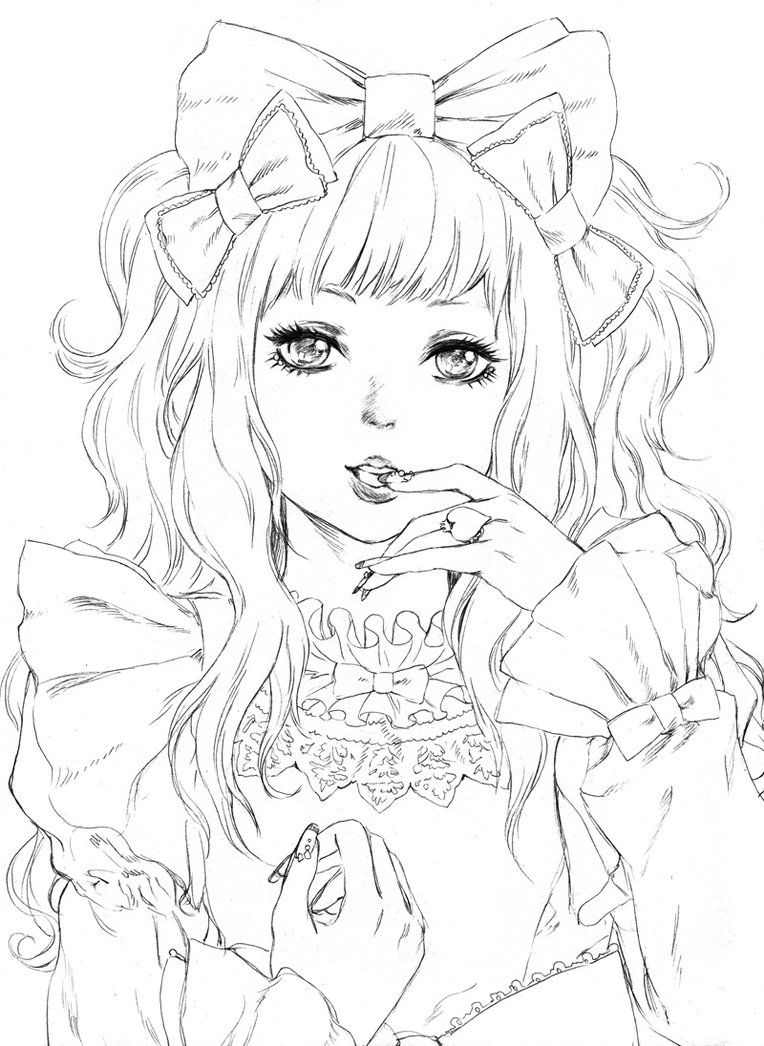 Pin On Ideas pour Coloriage Manga Kawaii