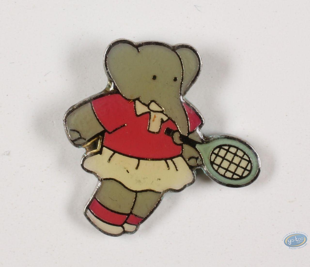 Pin's, Babar : Babar Au Tennis, Céleste intérieur Singe De Babar