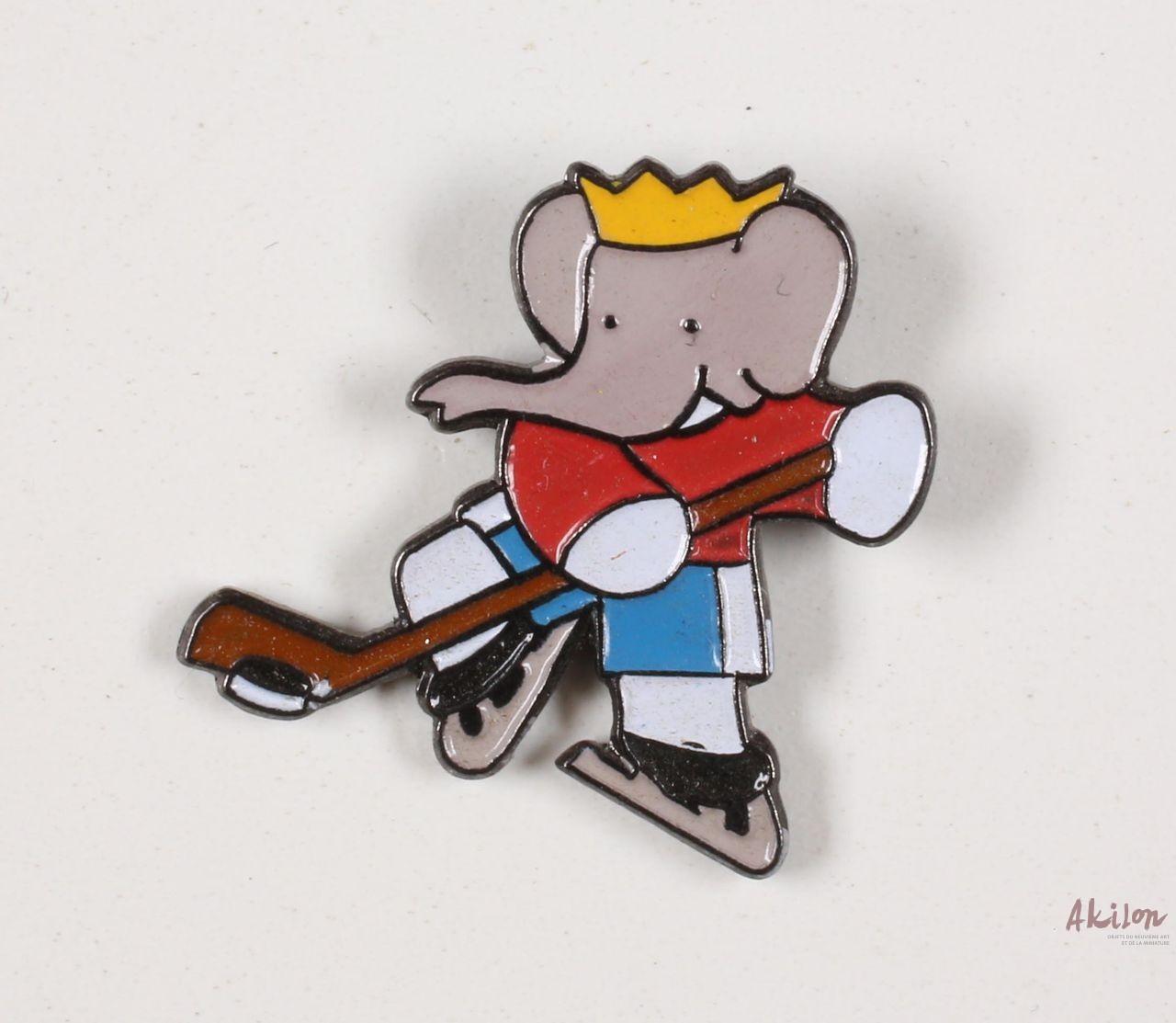 Pin's - Babar - Babar Plays Ice Hockey destiné Singe De Babar