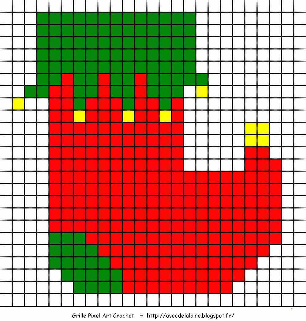 Pixel Art Boule De Noël | Asc Saintapollinaire à Pixel Art Pere Noel