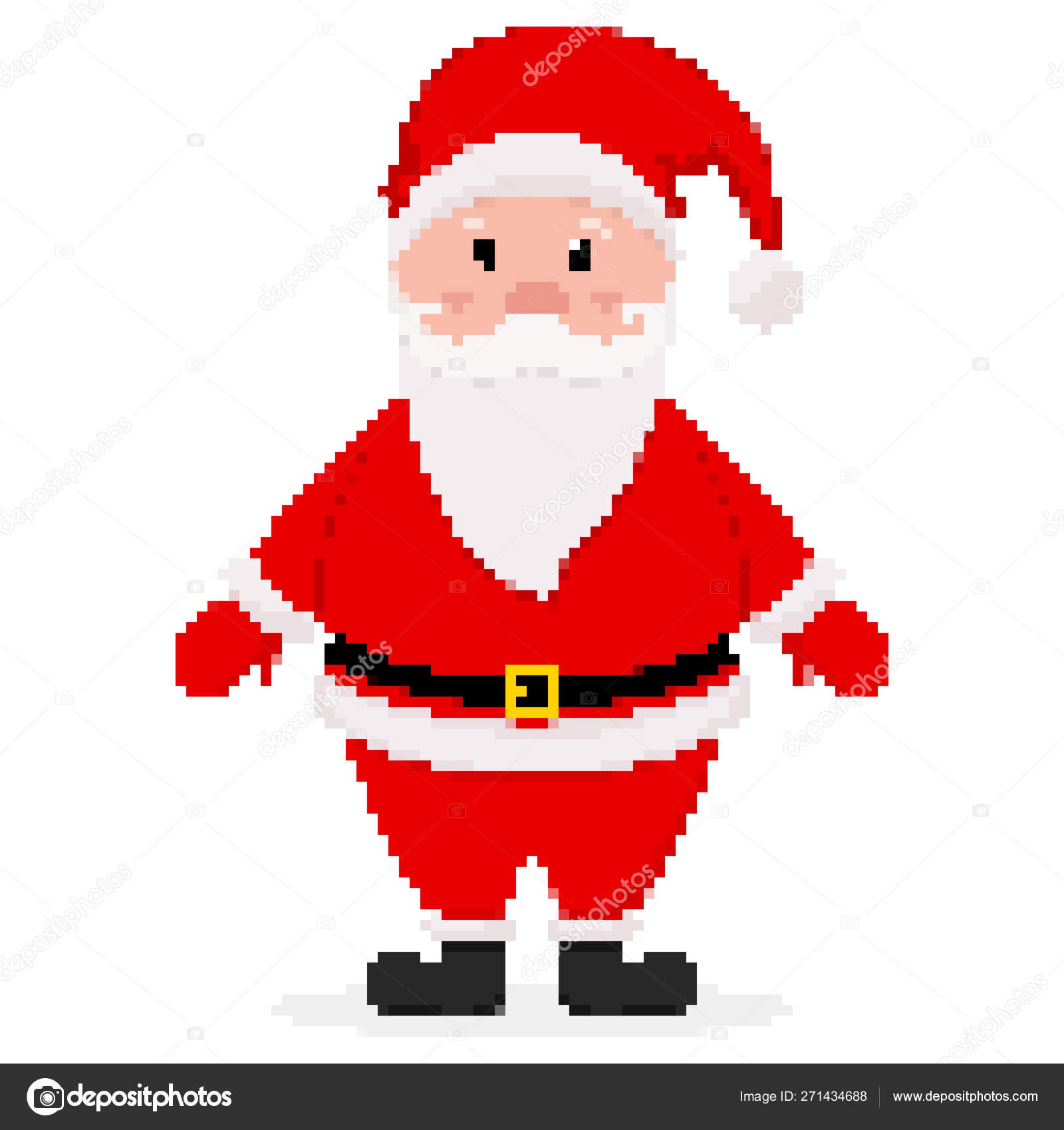 Pixel Art Design Of Santa Claus. Vector Illustration intérieur Pixel Art Pere Noel