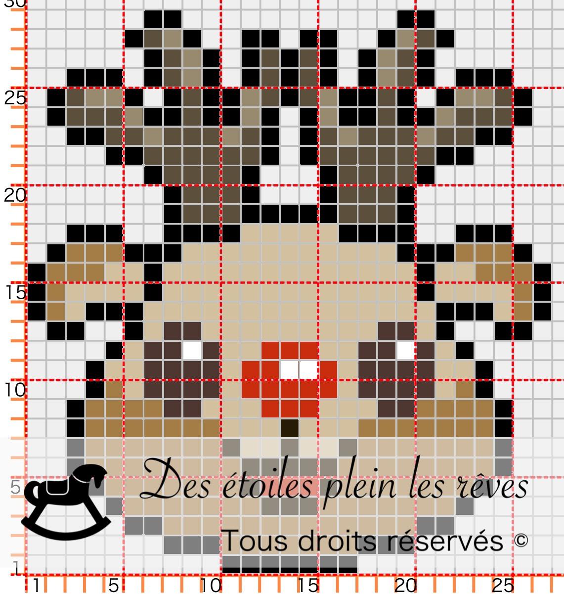 Pixel Art | Diy serapportantà Pixel Art Pere Noel