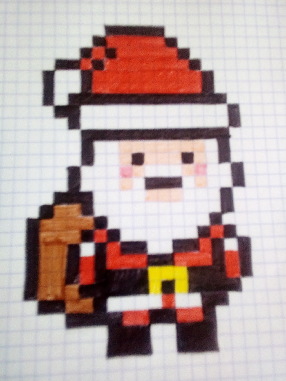 Pixel Art - Page 5 concernant Pixel Art Pere Noel