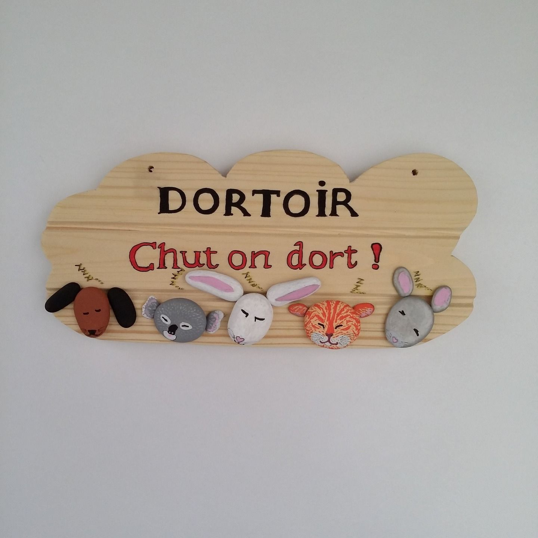 """Plaque Dortoir Galets """"chut On Dort"""" Pour Crèche, Halte tout Image Chut Bébé Dort"""