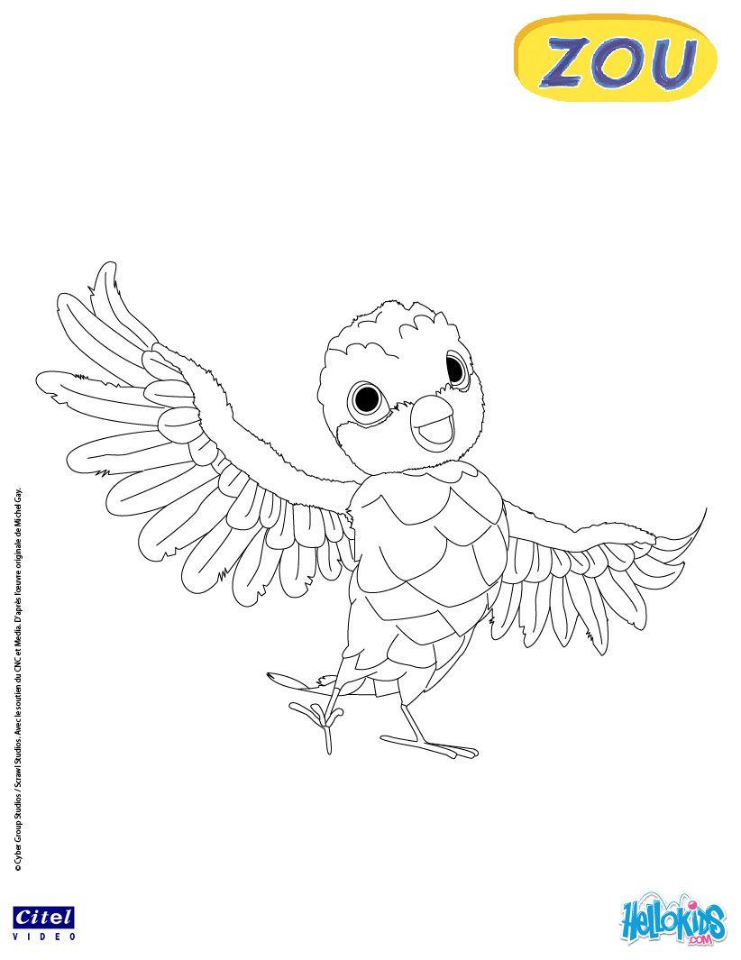 Poc Online Coloring Page pour Zou Coloriage