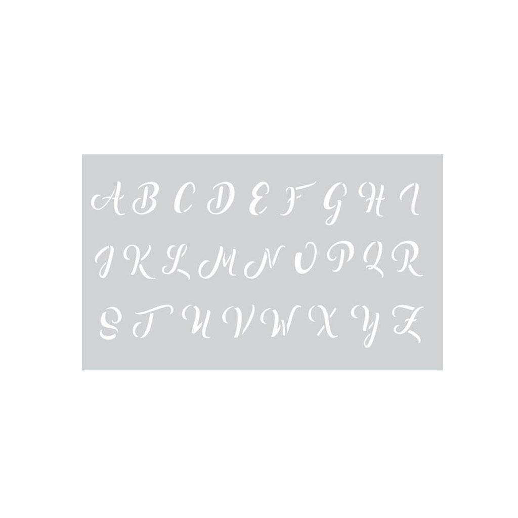 Pochoir Décoratif Peinture -Graine Créative- 12X20Cm Alphabet Majuscule  Cursive X1 intérieur T Majuscule En Cursive