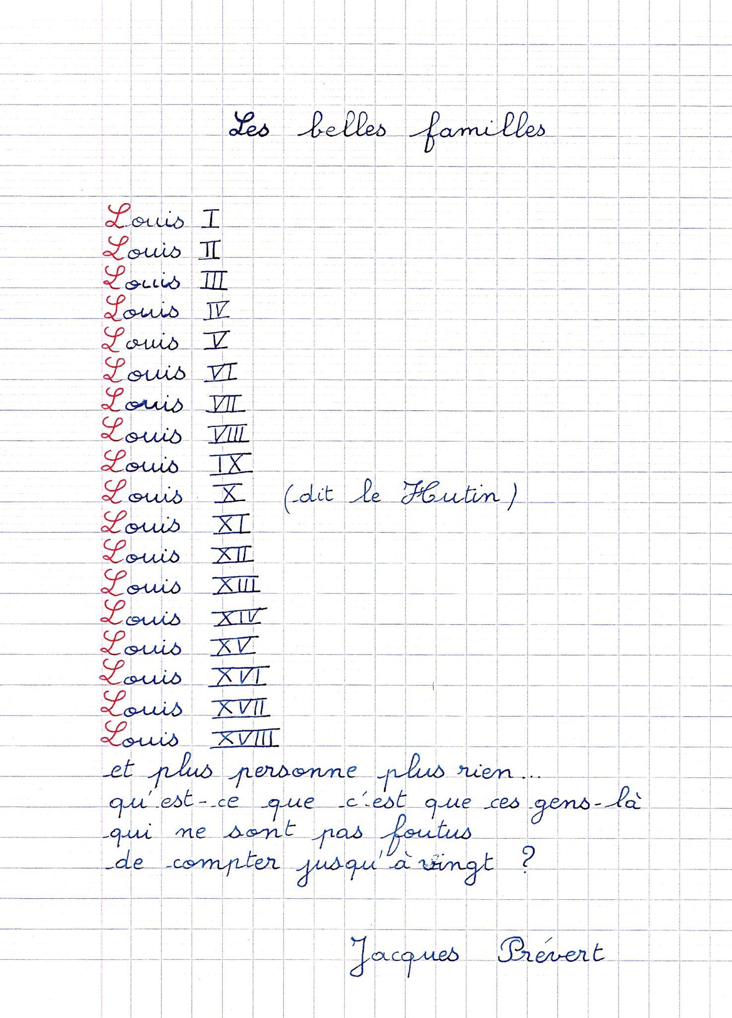 Poème De Famille De Jacques Prévert: Les Belles Familles serapportantà Poeme De Jacque Prevert