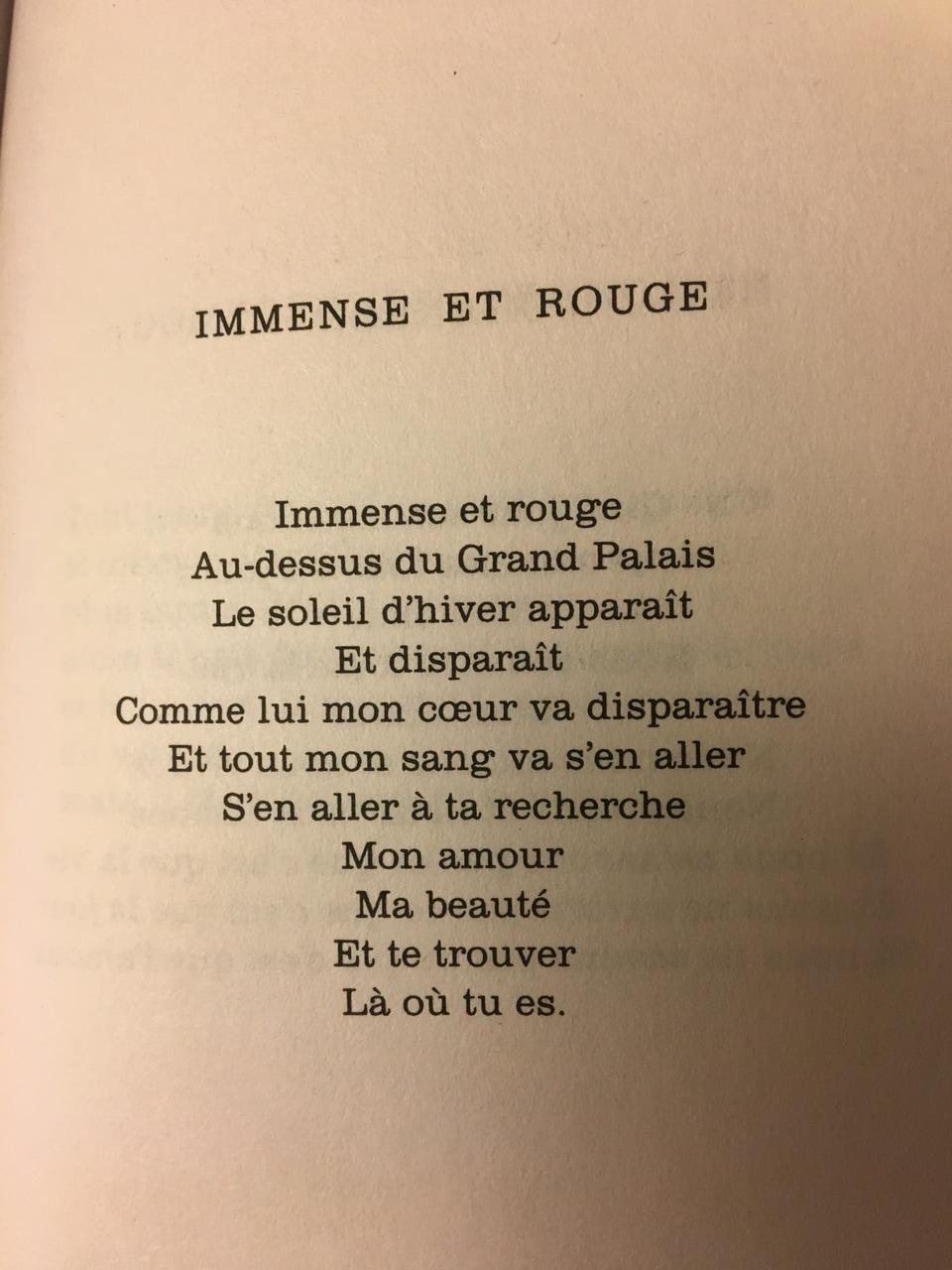 Poème De Jacques Prévert, « Immense Et Rouge ». pour Poeme De Jacque Prevert