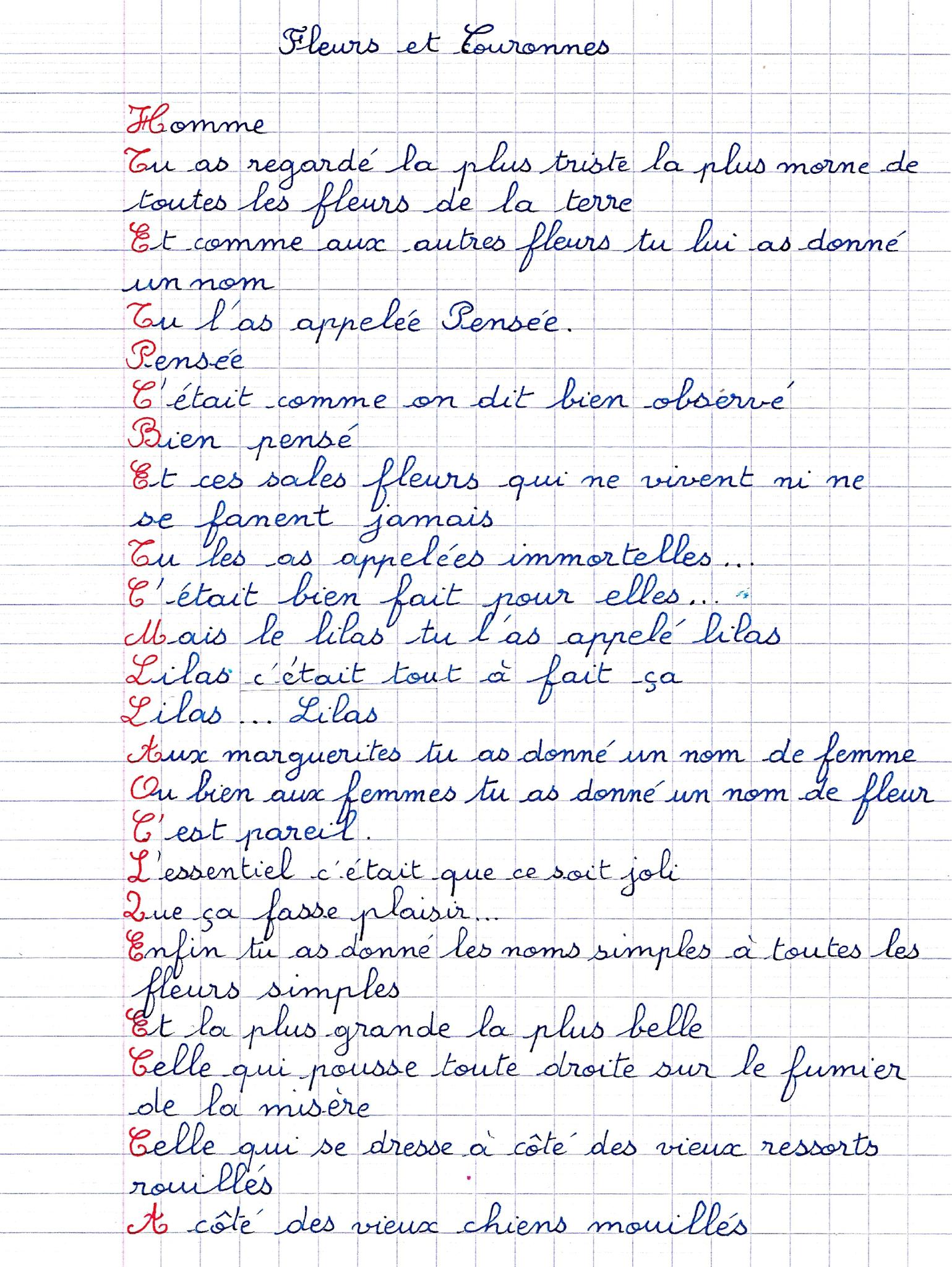 Poème De Tournesol, De Pensée,d'immortelles,de Lilas, De pour Poeme De Jacque Prevert