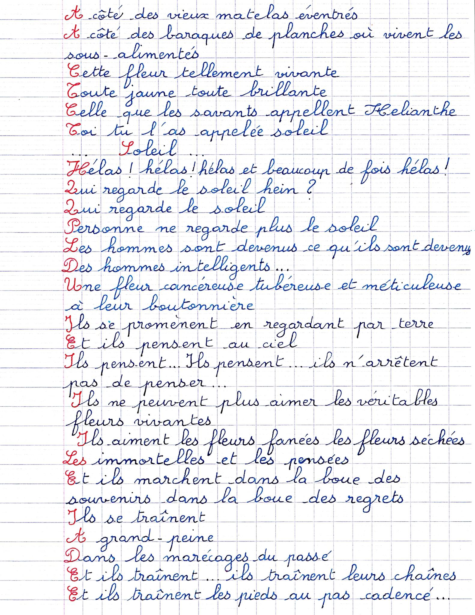 Poème De Tournesol, De Pensée,d'immortelles,de Lilas, De serapportantà Poeme De Jacque Prevert