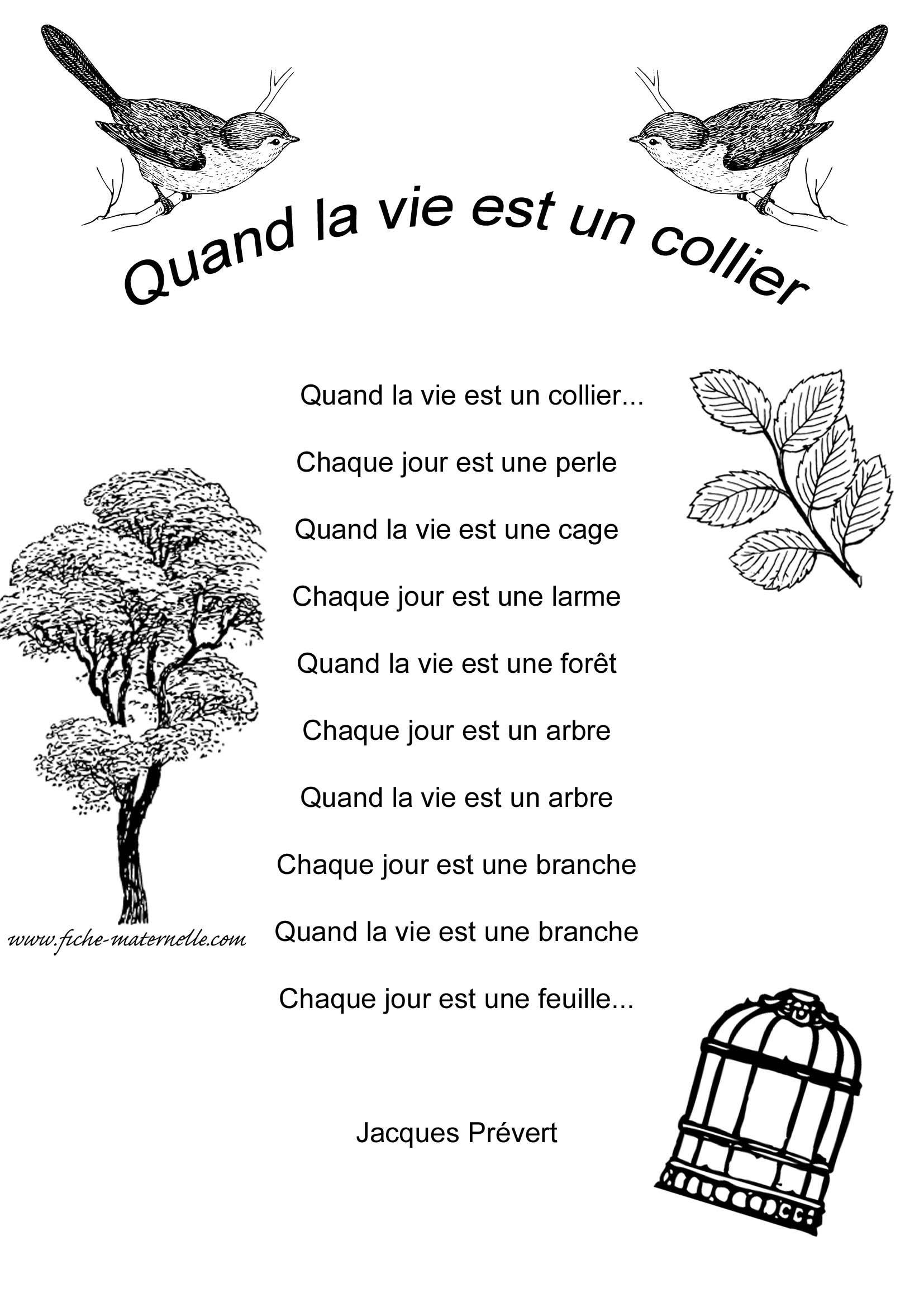 Poésie En Maternelle | Prevert Jacques, Poesie, Belles Citations pour Poeme De Jacque Prevert