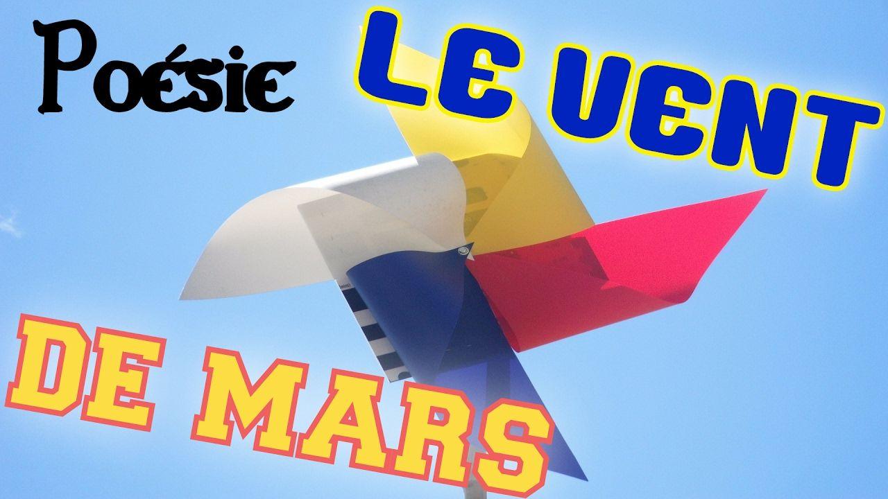 Poésie 💨 Le Vent De Mars De Jean Orizet 💨 (Avec Images pour Mars De Maurice Careme A Imprimer