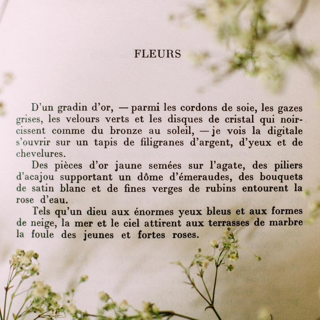 Poesie Francaise Arthur Rimbaud Fleurs #spring #poésie pour Poeme Les Fleurs