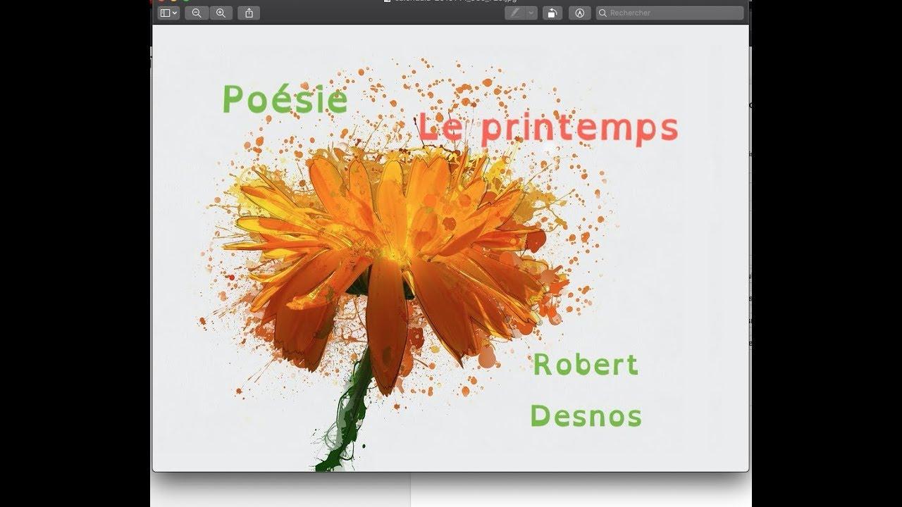 *** Poésie *** Le Printemps *** Robert Desnos *** dedans Poème De Robert Desnos
