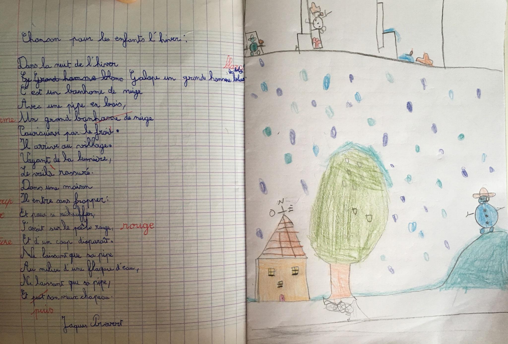 Poésie - Rééducation De L'écriture En Yvelines encequiconcerne Dans La Nuit De L Hiver Chanson