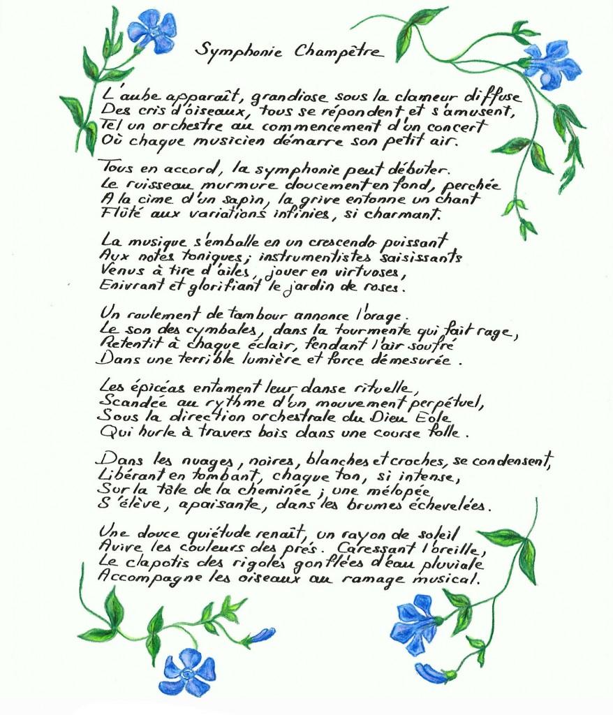 """Poésie """"symphonie Champêtre"""" - De Fleurs En Feuilles destiné Poeme Les Fleurs"""