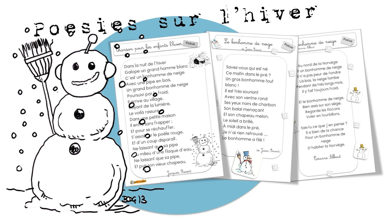 Poésies Sur L'hiver - Bout De Gomme | Comptine Hiver, Poeme serapportantà Dans La Nuit De L Hiver Chanson