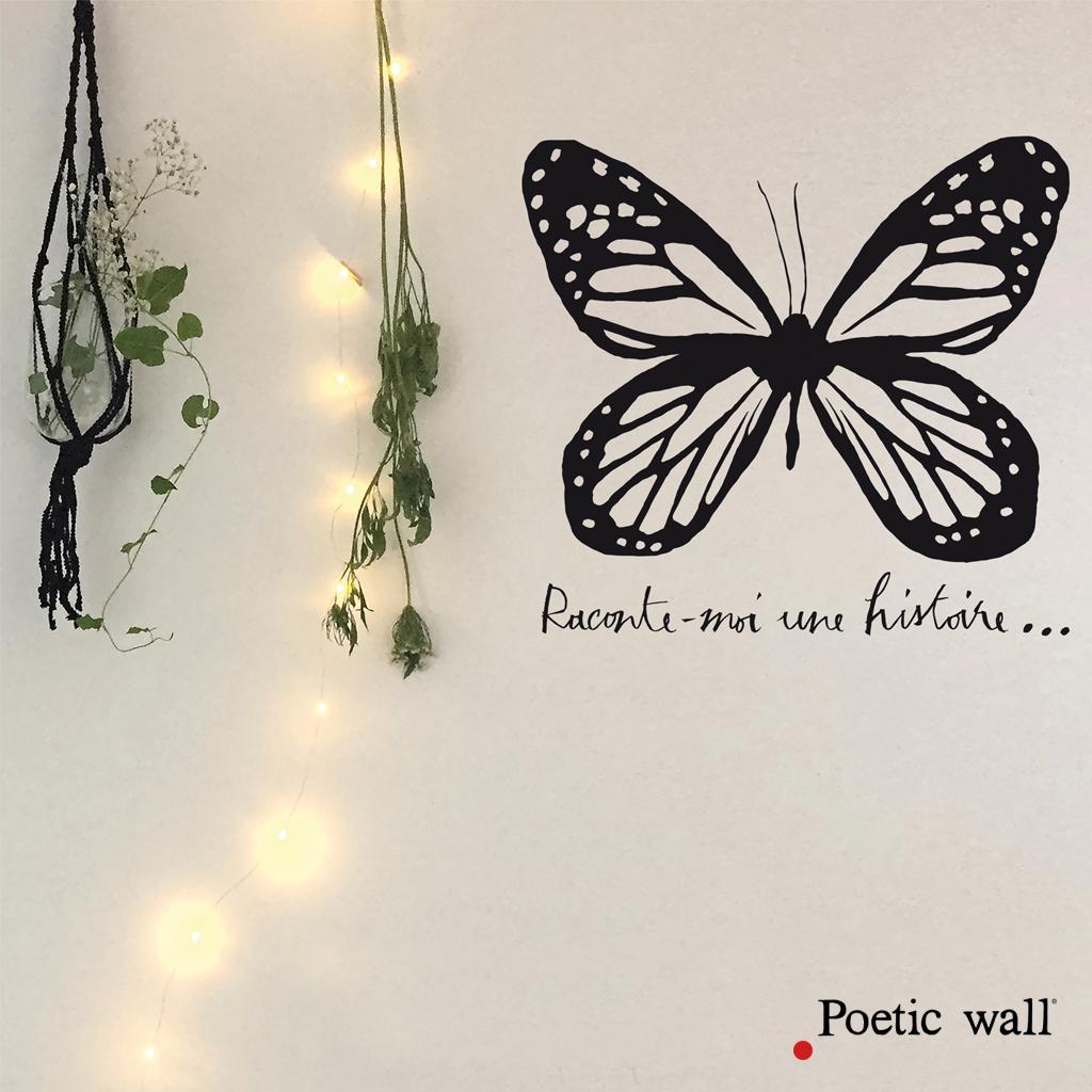 Poetic Wall® – Sticker Texte Et Dessin – Histoire De Papillon pour Dessin Sur L Histoire