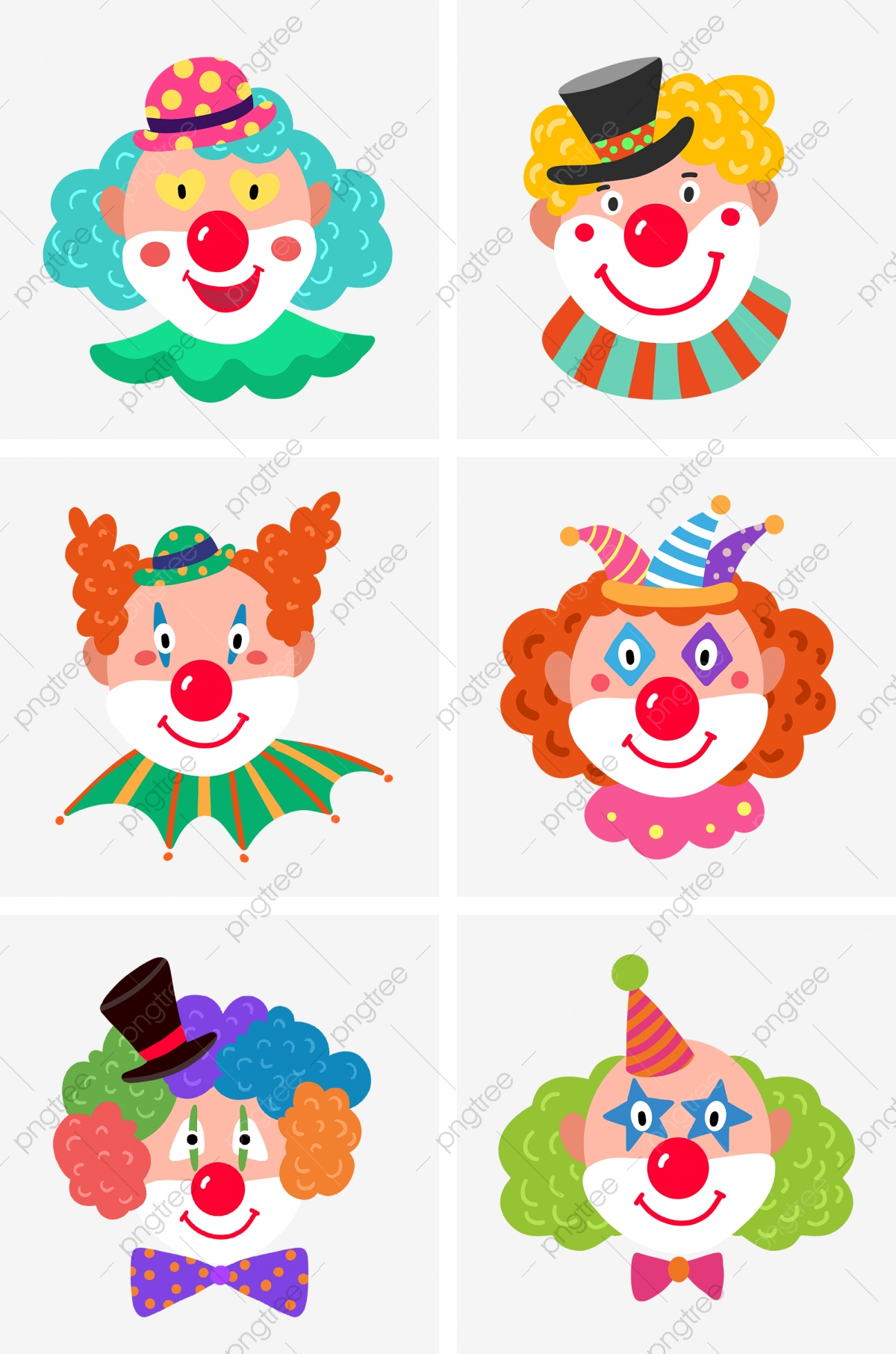 Poisson D'avril Cirque Chapeau De Clown Clown, Noeud à Etoil Clown