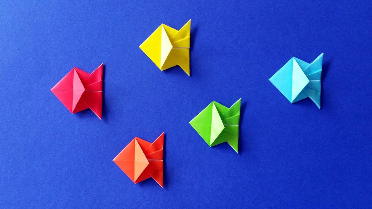 Poisson En Origami intérieur Origami Facile A Faire En Français