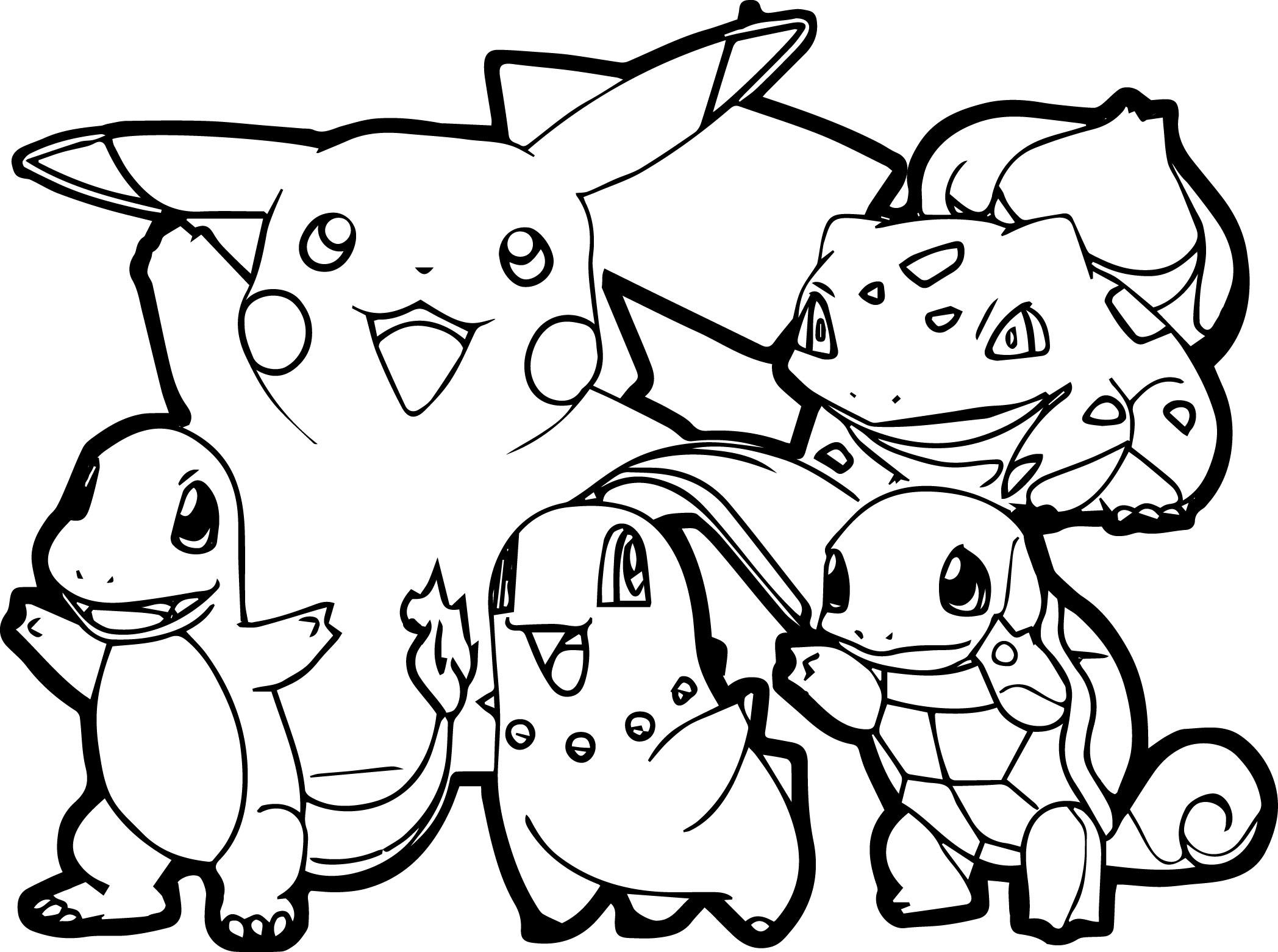 Pokemon Traits Epais - Tous Les Coloriages Pokemon avec Imprimer Coloriage Pokemon