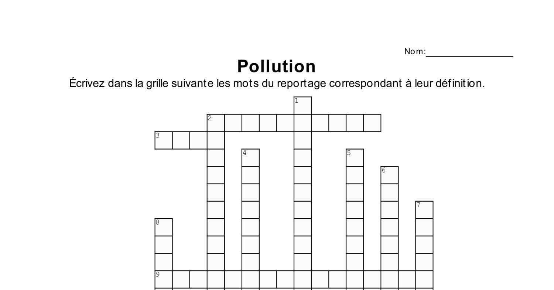 Pollution Mots Croisés.pdf | Docdroid avec Mot Croiser