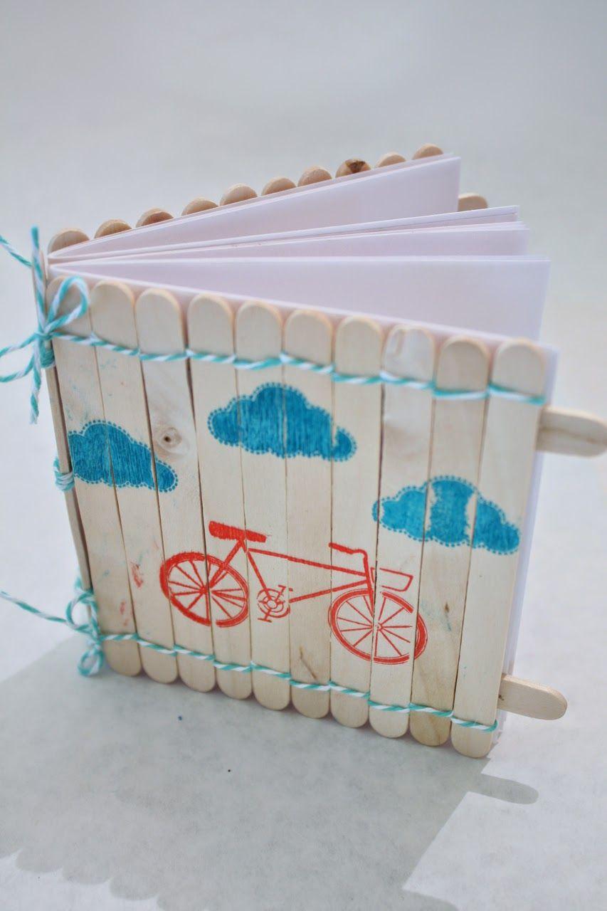 Popsicle Stick Notebook | Éducation | Bâtons D'artisanat serapportantà Bricolage Avec Baton De Bois