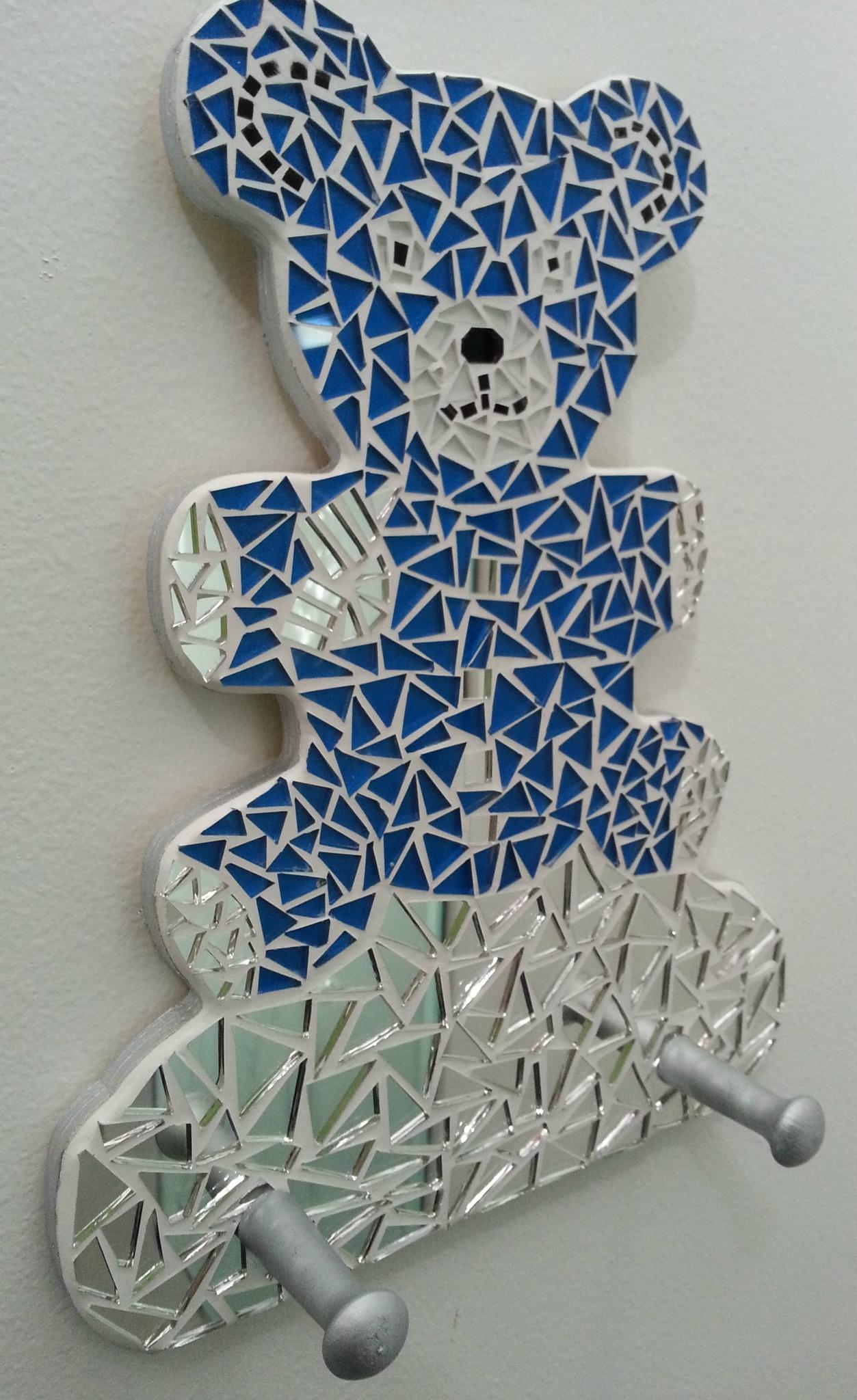 Porte Manteau En Forme De Petit Ours En Mosaique - Ma intérieur Support Pour Mosaique