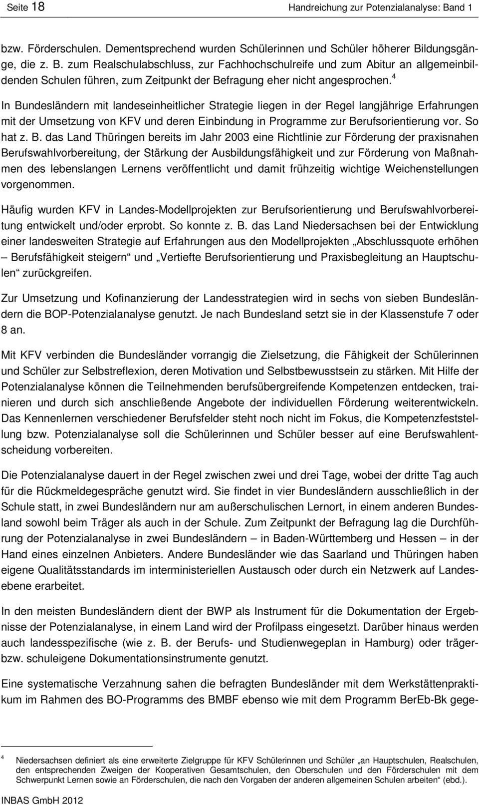 Potenziale Erkennen Und Fördern. Qualität Entwickeln. - Pdf concernant Bo Programmes 2012