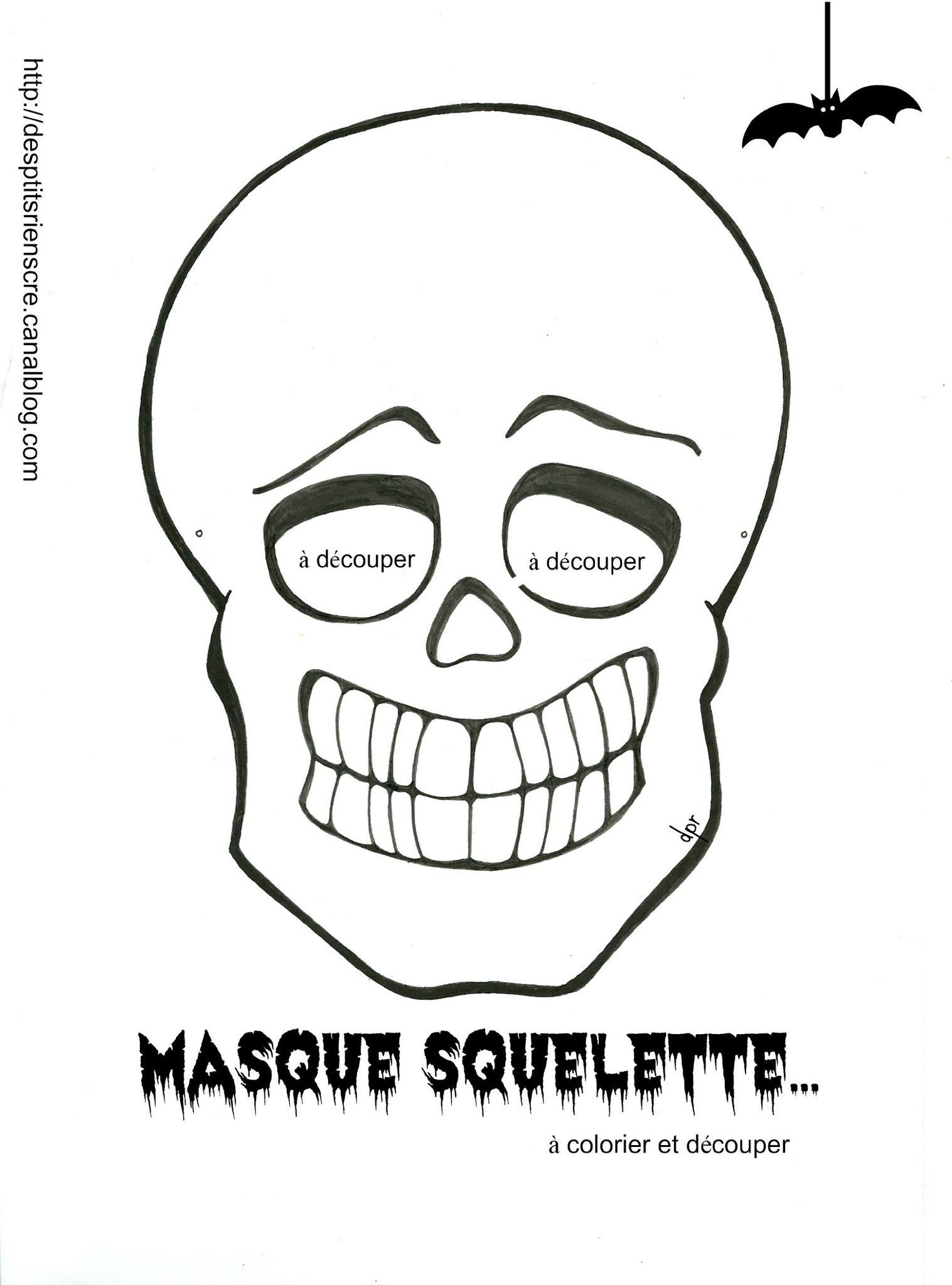 Pour Vos P'tites Crapules( Coloriage À Imprimer) - Des P tout Squelette A Imprimer