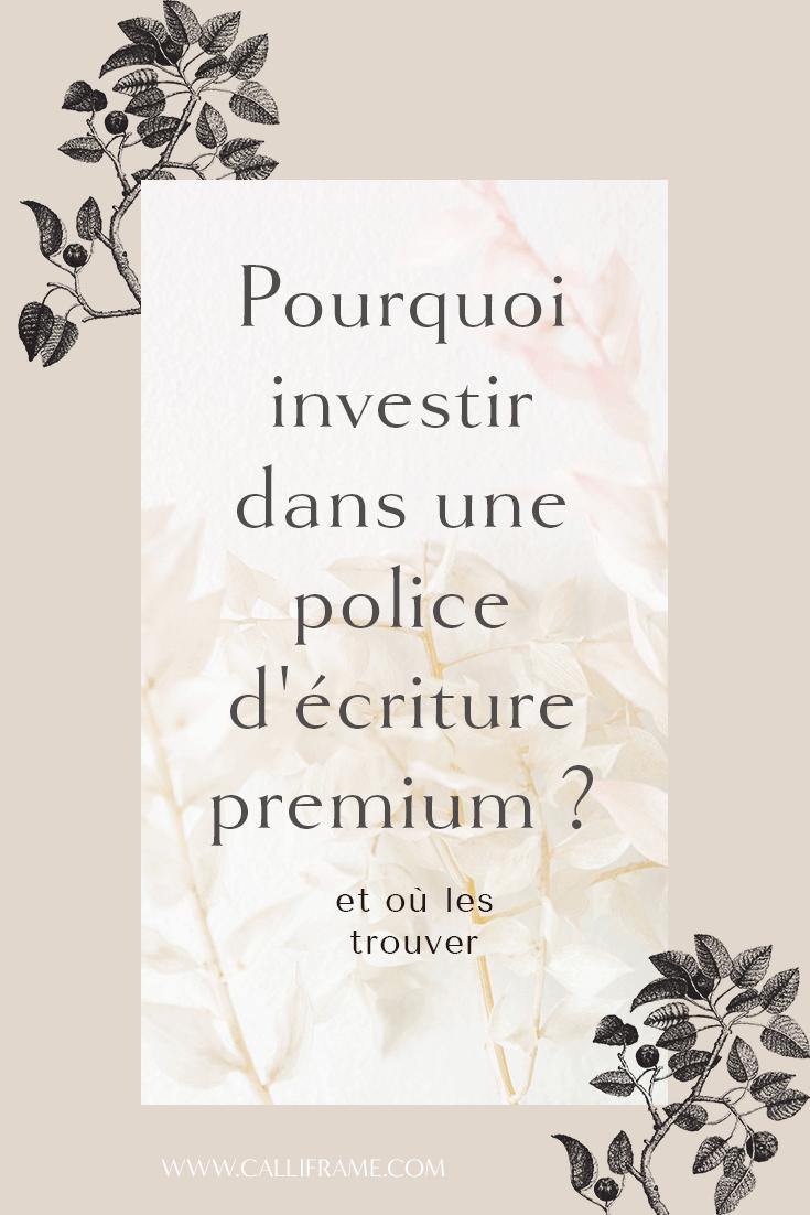 Pourquoi Acheter Une Police D'écriture? intérieur Image Écriture