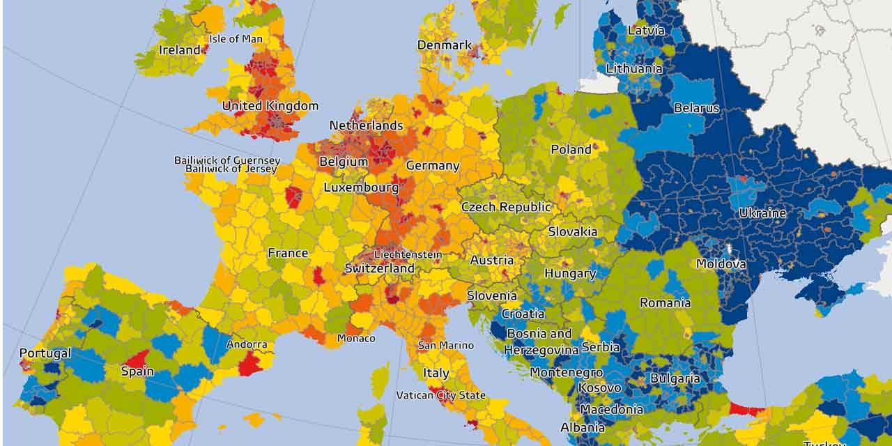 Pouvoir D'achat : Qui Est Le Mieux Loti En Europe ? à Carte Europe Capitale