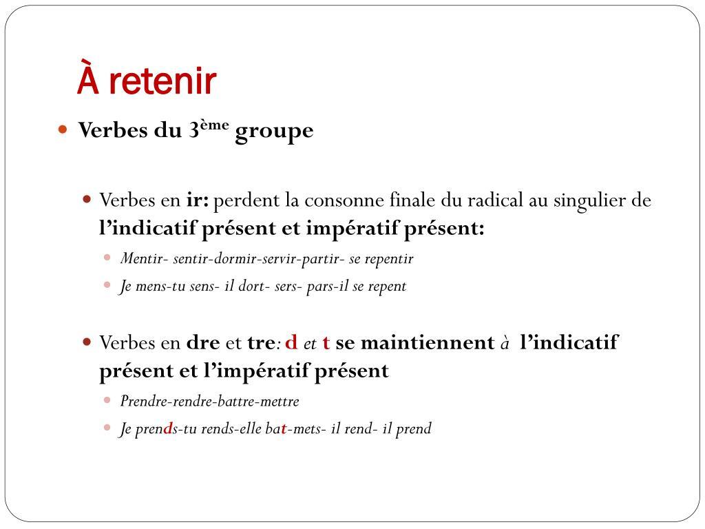 Ppt - Conjugaison Powerpoint Presentation, Free Download à Dormir Au Présent De L Indicatif