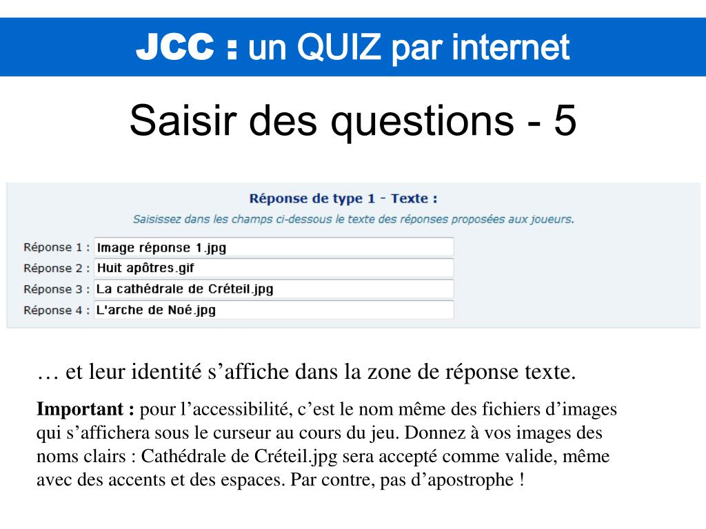 Ppt - Jcc : Un Quiz Par Internet Powerpoint Presentation avec Question Reponse Jeu