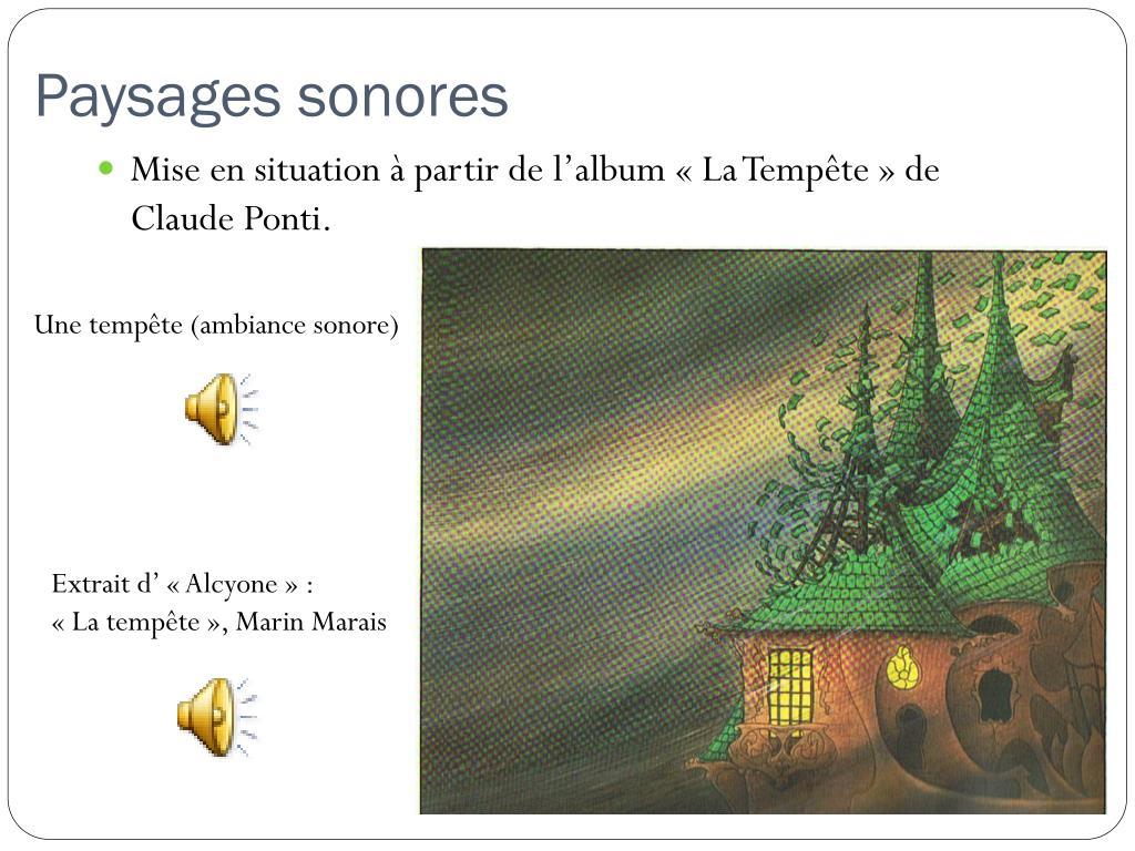 Ppt - La Sonorisation D'album Powerpoint Presentation, Free avec La Tempête Claude Ponti
