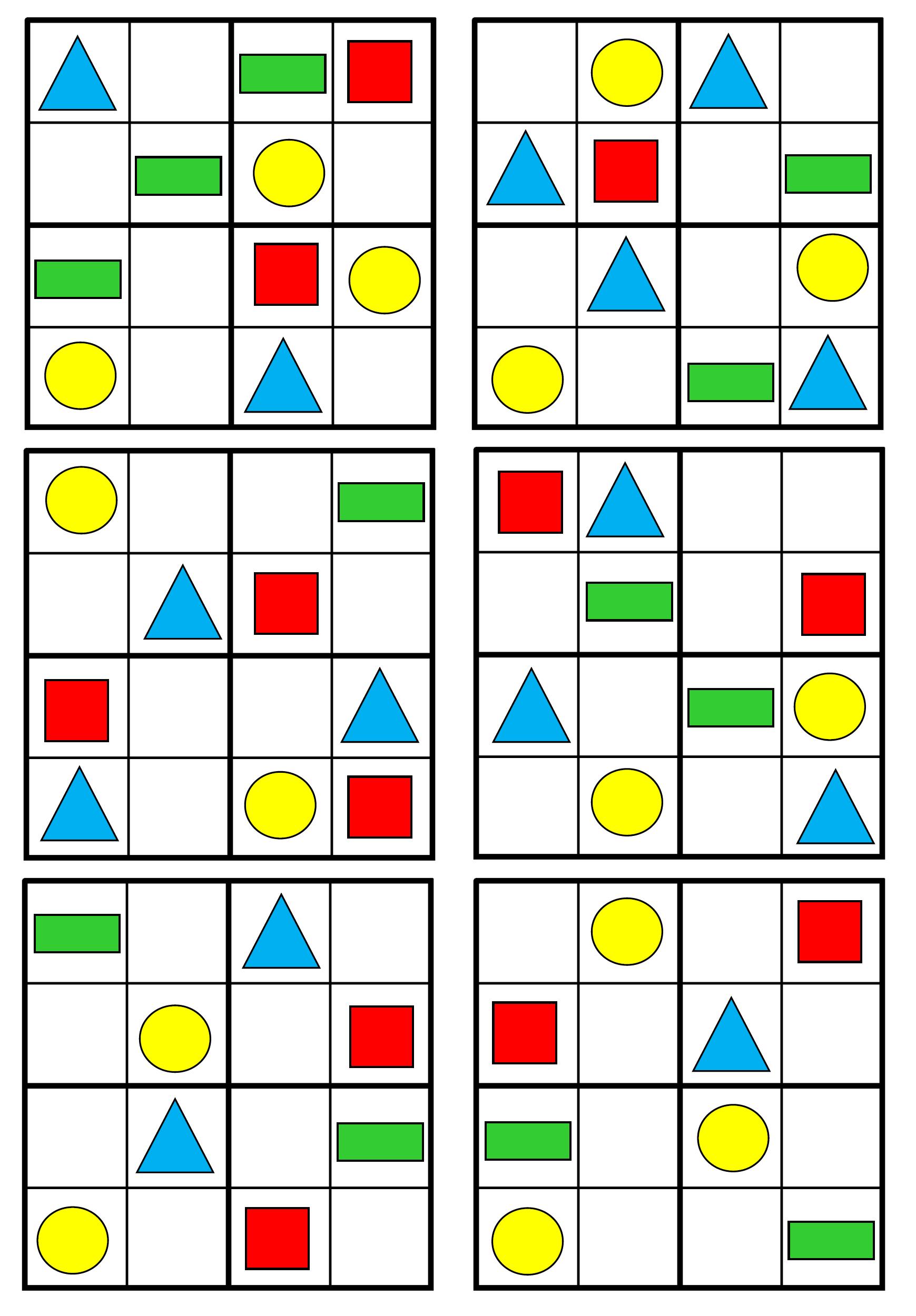Pracovní Listy - Matematické Představy 5 - 7 Let | Kids Math à Sudoku Grande Section