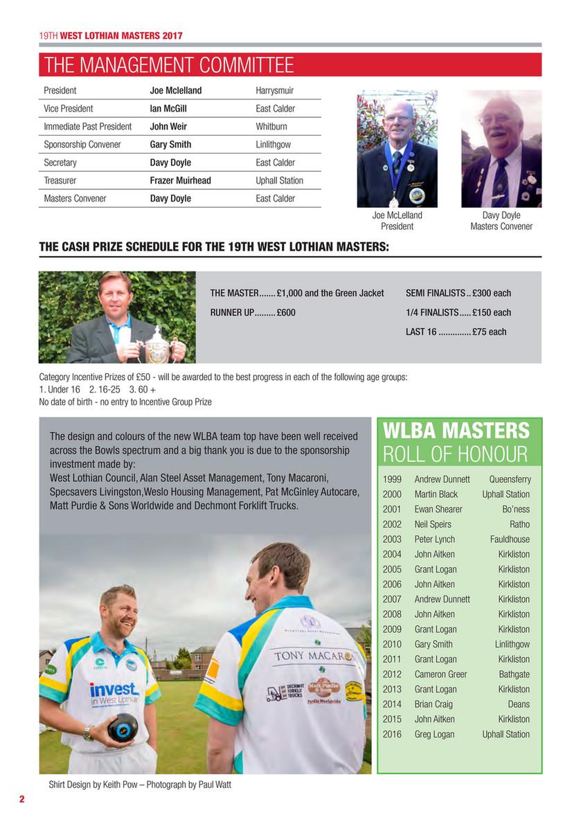 Precision Computing - 2017 Scotmid West Lothian Masters destiné Bo Programmes 2012
