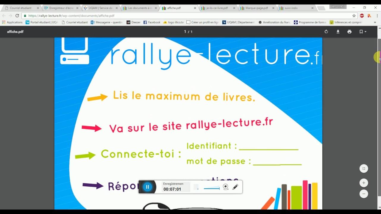 Présentation Rallye Lecture - avec Rallye Lecture Fr Ma Classe