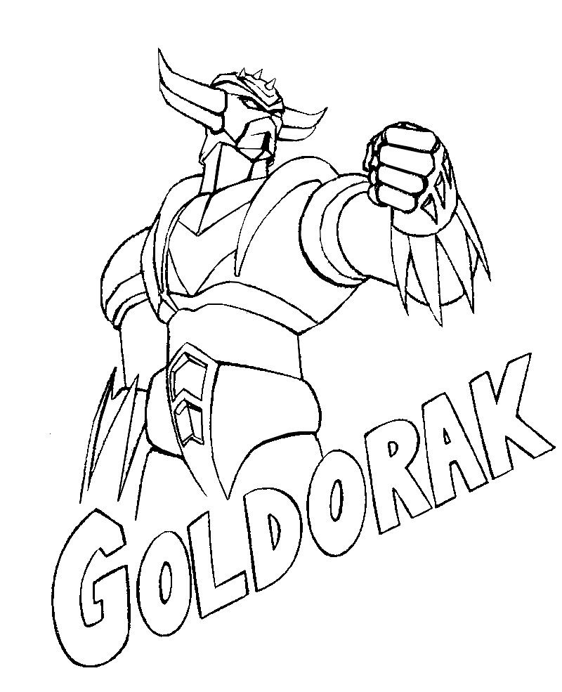 Printable Coloring Pages - Goldorak (Superheroes encequiconcerne Photos Goldorak Gratuit